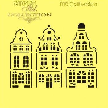 Hobbilicious Stencil ITD Dutch Houses ST0101B