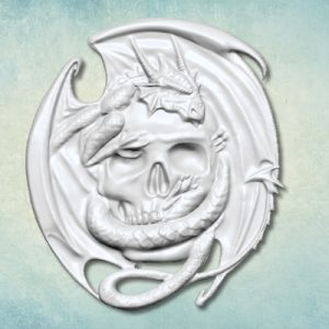 skull dragon mould