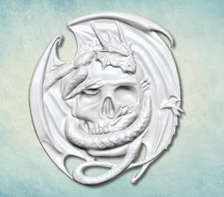 skull dragon mould