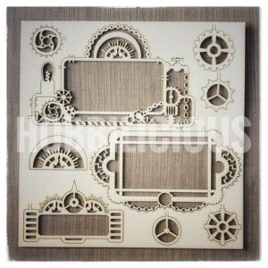 Hobbilicious Geared Up Frames Craftboard Steampunk