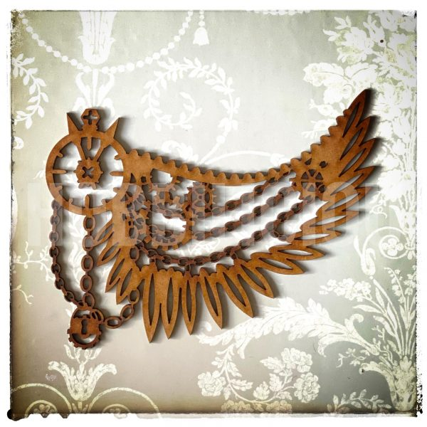 Hobbilicious Wing of Chains MDF Embellishment