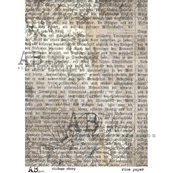 AB Studio Rice paper Rusty Letter