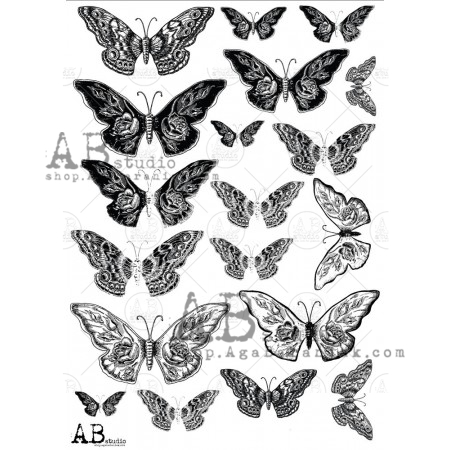 AB Studios Tracing Paper 0009 Butterflies