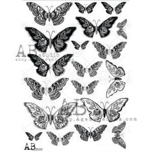 AB Studios Transparent Foil 0013 Butterflies