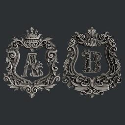 Zuri Monogram A & B