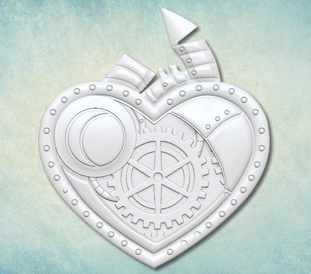 Prosver mould Steampunk heart ARTMD0921