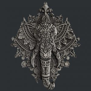 Zuri Ornate Elephant