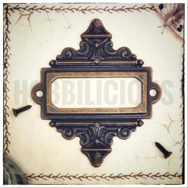 Hobbilicious Metal Vintage Label Plate