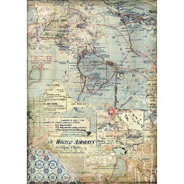 DFSA4457 Maps Stamperia