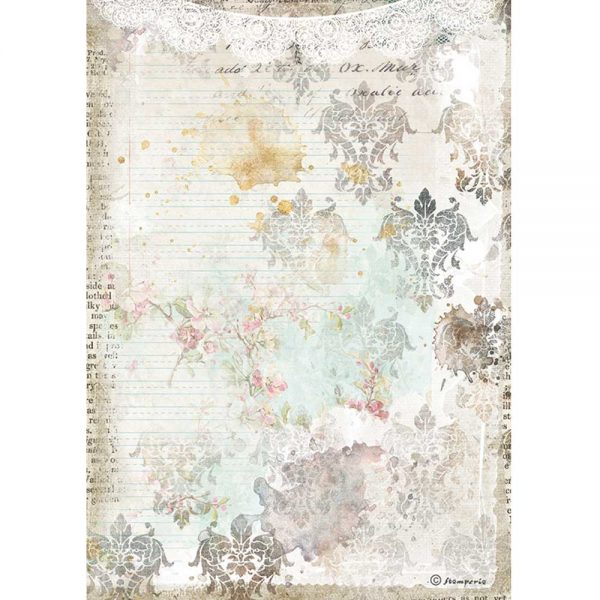 DFSA4556 Romantic Journal Textured Lace Stamperia