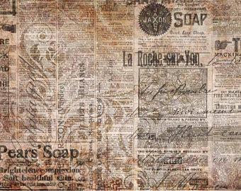 Decoupage Queen Newsprint DQRP0081L A3