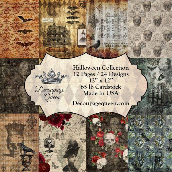 Halloween Collection 12 x 12 Decoupage Queen