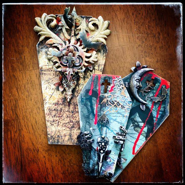 Coffin Tags MDF Hobbilicious set of three