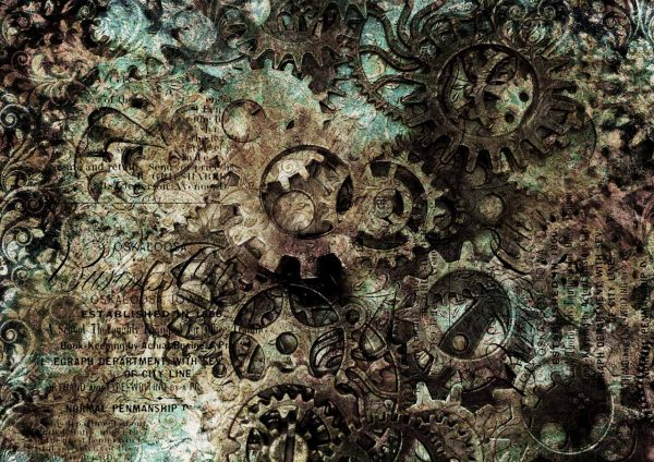 Decoupage Queen Abstract Gears