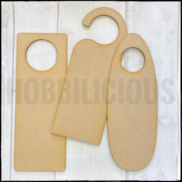 Hobbilicious MDF Door Hanger Set