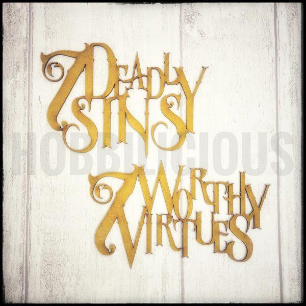 Sins and Virtues MDF Hobbilicious