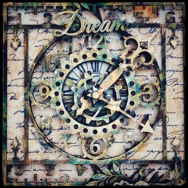 Square numbered clock Hobbilicious MDF